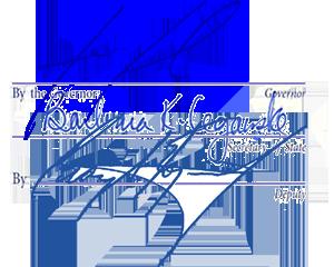 Governor's signature