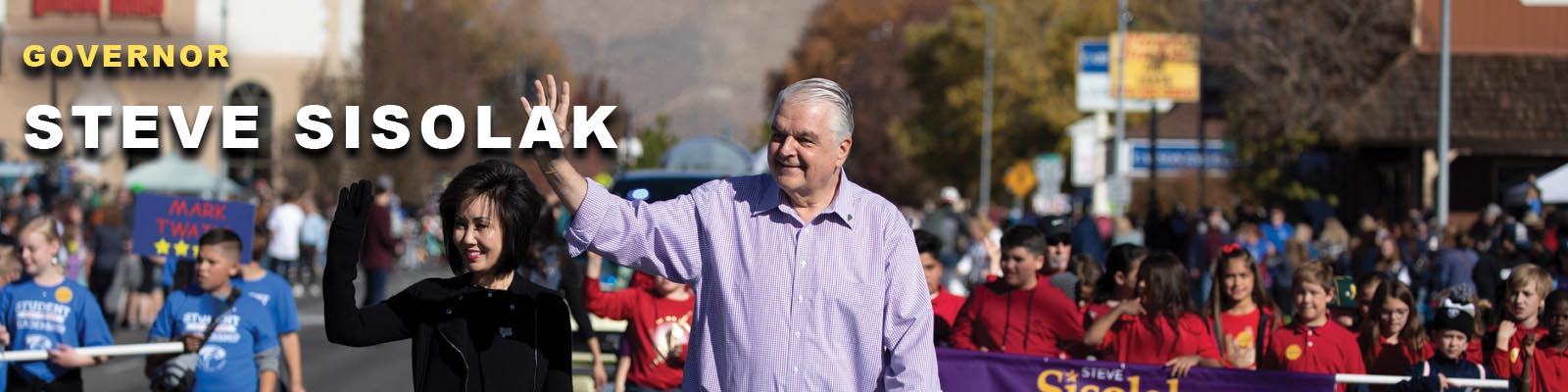 Governor Sisolak in Parade