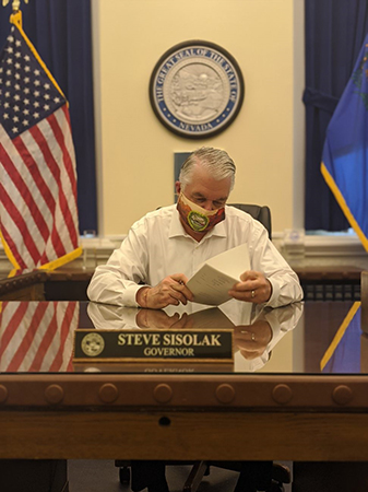 Governor Sisolak Signing Senate Bill 2 from the 31st Special Session