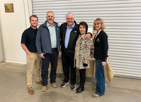 Owner John Getto & Staf; Governor Steve Sisolak; First Lady Kathy Sisolak