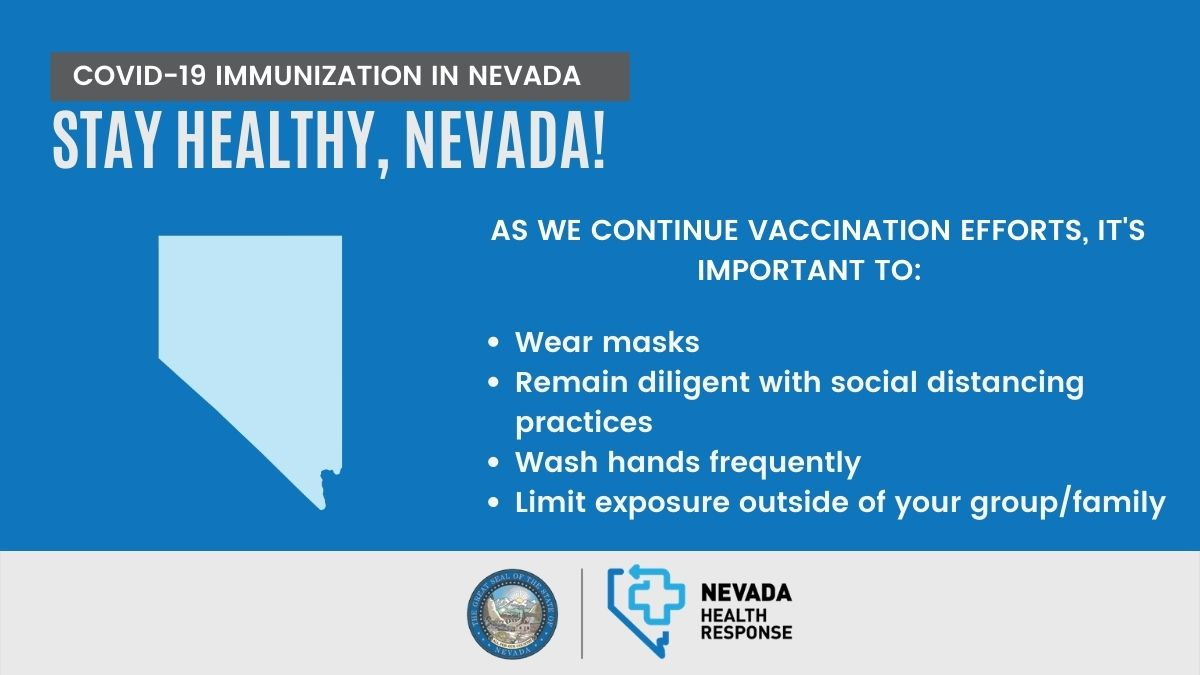 As we continue vaccination efforts, wear masks, remain diligent with social distancing practices, wash hands frequently and limit exposure outside of your group/family