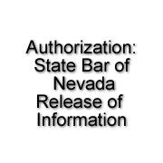 State Bar of Nevada Authorization: Release Personal Information