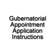 Gubernatorial Appointment Application Instructions