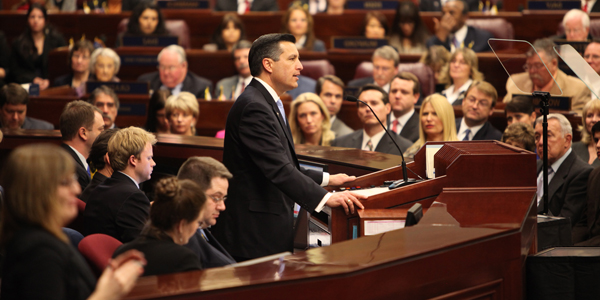 Governor Sandoval delivers his 2013 State of the State Address.