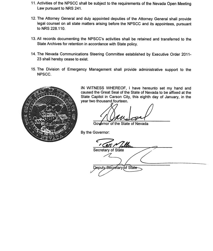 Eo 2014 01 establish nv public safety communication committee eo 2014 01 nps communications committee page3 falaconquin