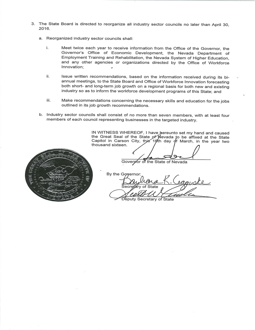EO# 2016-08 Order Regarding Workforce Development Image Page 3